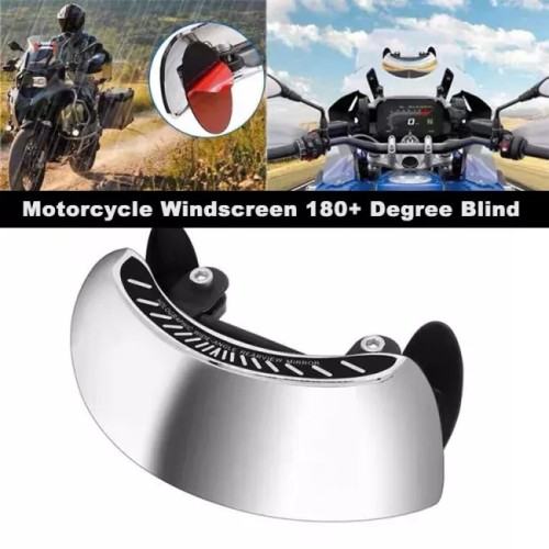 Motorcycle Windscreen 180+ Degree Blind Spot Mirror
