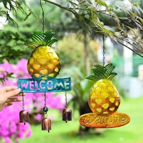 PINEAPPLE WIND CHIMES RETRO GARDEN DECORATION