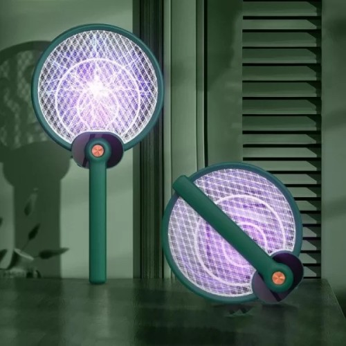 Foldable UV Electric Mosquito Swatter Racket