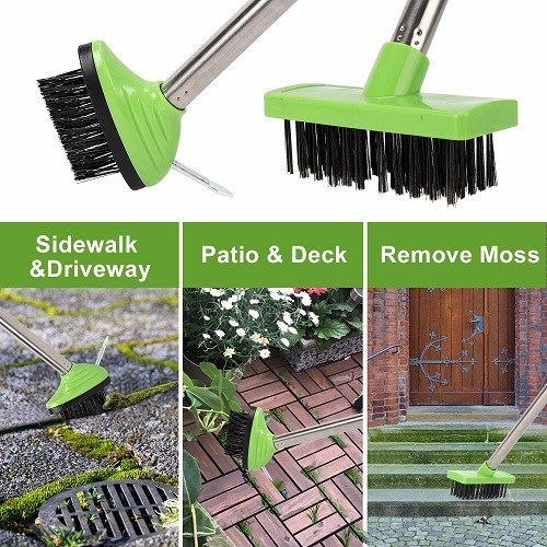 3-in-1 wire brush weeding and cleaning tools