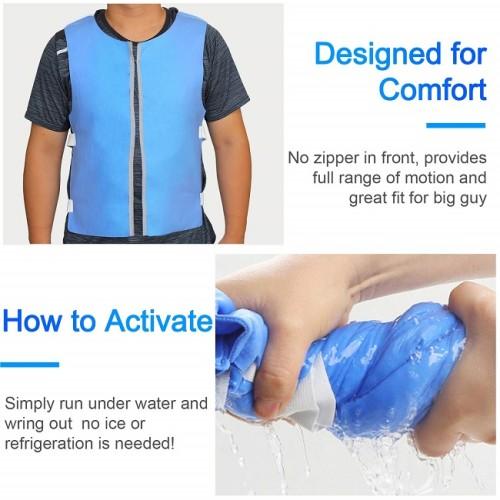 Ice Cooling Vest for Men Women MS Outdoor Working Evaporative Ice Vest
