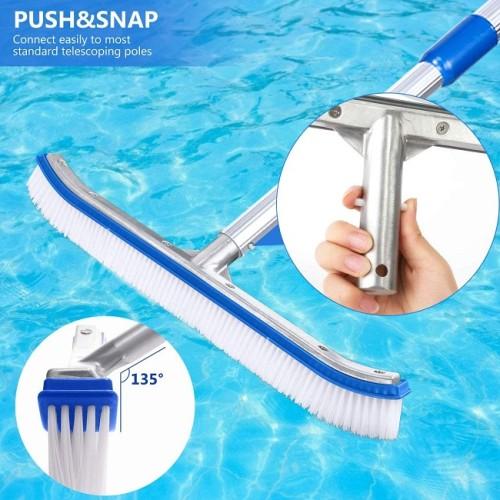 Pro Pool Brush Head Premium 18″ Aluminium Swimming Pool Cleaning Brush
