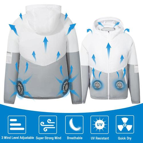 Men 5V USB Cooling Fan Jacket Clothing and Air Conditioned Coat for Summer Outdoor Work