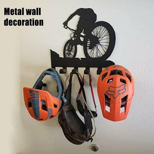 Mountain bike gear rack / metal wall decor