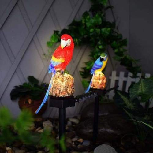Outdoor Waterproof Parrot Solar Garden Stakes