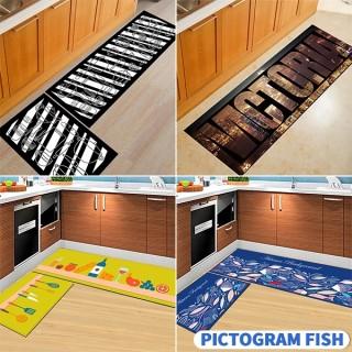 Küchenbedruckter rutschfester Teppich