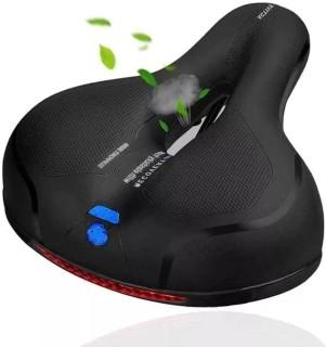 Ersatz breites Fahrradsattel Memory Foam gepolstertes weiches Fahrradkissen mit zwei stoßdämpfenden Gummibällen Universal