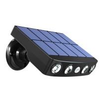 LED Solarbetriebene Wandleuchte Drehbare wasserdichte Bewegungssensorleuchten Gartenleuchte im Freien mit Halter
