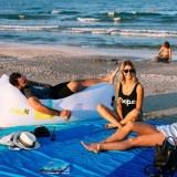 Leichte sandfreie Strandmatte