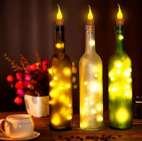 10x Warm Wine Bottle Candle Shape String Light 20 LED Night Fairy Lights Lamp