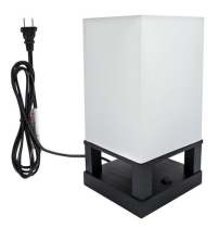 40W (Without Light Bulb) Table Lamp US Standard Black Four-Corner Base (Dual USB Interface) ZC001286