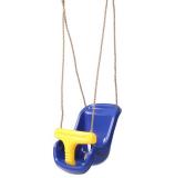 High Back Infant Swing Wide Seat Belt Toddler Child Kid Outdoor Play Blue
