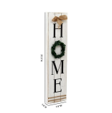 Wooden Home Plaque with Green Wreath |Housewarming Home Decor,Large Farmhouse Home Signs Plaque Wall Hanging Decor for Mantle Living Room. 7.87*31.5inch