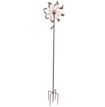 Wrought Iron Windmill-LED Light Petal Shape