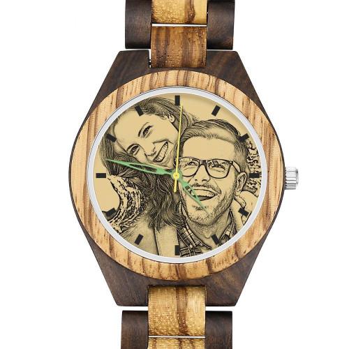 Men's Custom Photo Wooden Watch