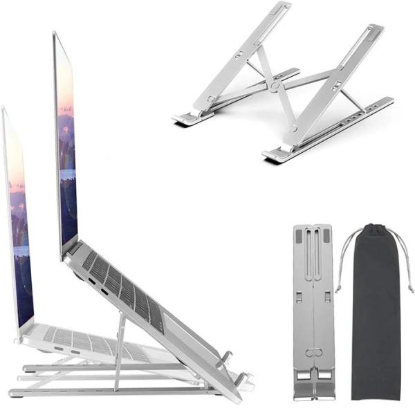 X Style Aluminum Adjustable Foldable Laptop Stand