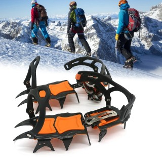 12 Teeth Ice Ice Gripper Non Slip Climbing Crampons Cleats Shoe Cover Ice Crampons Winter Snow Spikes Boot Shoes For Winter