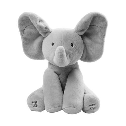 Baby Animated Singing Elephant Flappy Plush Toy