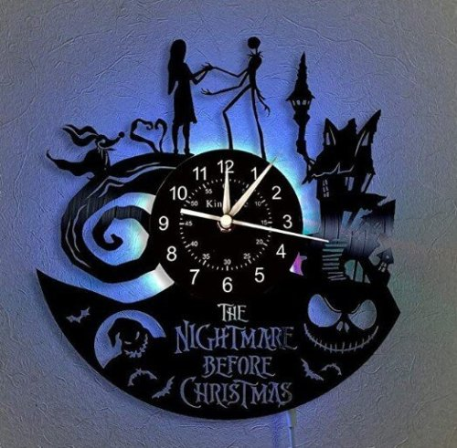 Nightmare Before Christmas Vinyl Wall Clock