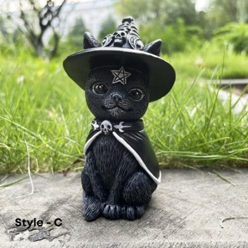 Cat Halloween Lawn Gnome