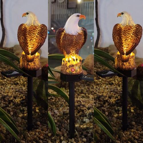 Eagle Figure Garden Solar Pole Light