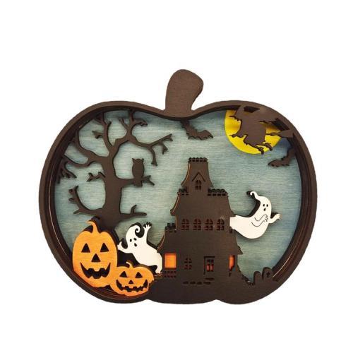 Super Discount-Halloween pumpkin Carving Handcraft Gift Wall Hanging