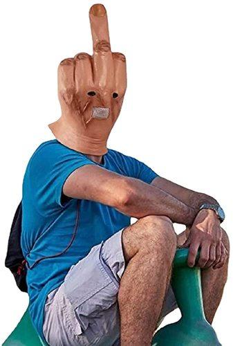 Halloween Mask Latex Spoof Middle Finger Mask