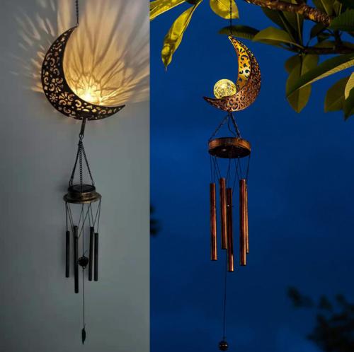 Solar Moon Wind Chimes | Garden Decoration