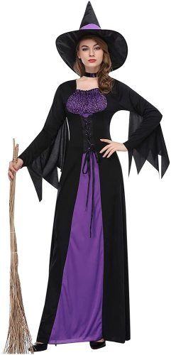 Womens Halloween Costumes Cosplay Sexy Witch Suit Dress Witch Costume