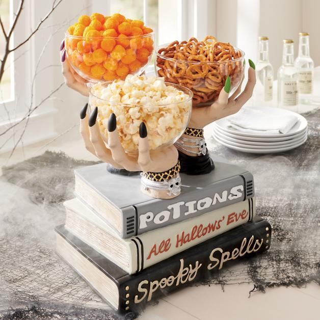 Witch Hands Snack Bowl Stand Halloween 2021