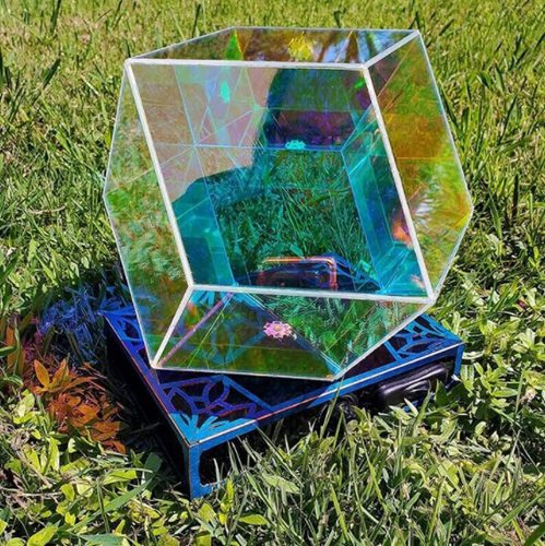 Rhombic Dodecahedron Infinity Prism Color Prism Art Light for Furniture Decor
