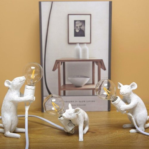 Mouse Table Lamp   Cute Lamp Gold Rat   Vintage Gold Desk Lamp