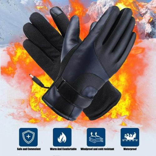 Electric Waterproof Heated Gloves with Touch Screen Sensor