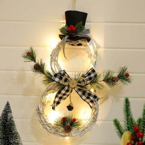 Christmas Wreath Reusable LED Light Garland for Decoration