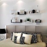 Set of 3 Floating Display Shelves Ledge Bookshelf Wall Mount Storage Home Decor White