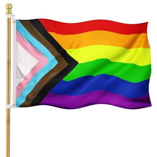 Progress Pride Rainbow Flag For Pride Month Decoration