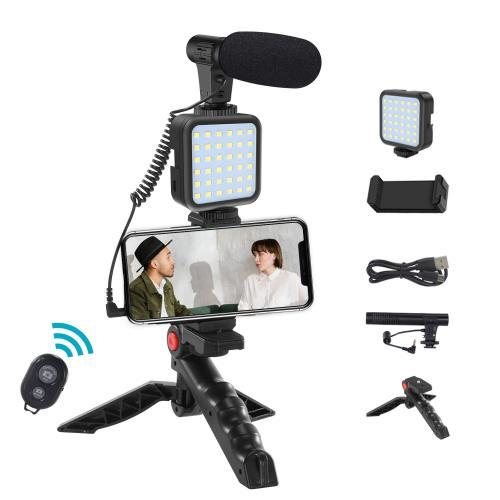 Smartphone Video Microphone Rig Mobile phone video microphone kit vlogging kit