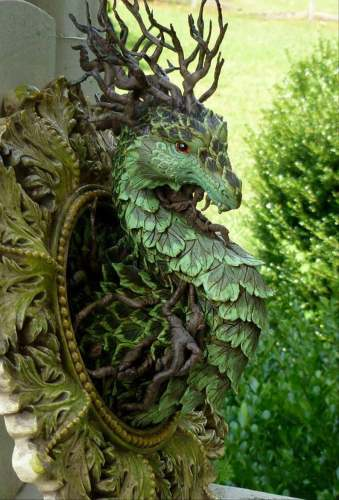 Forest Dragon Statues Wall Decor for Home Indoor and Outdoor Patio Porch