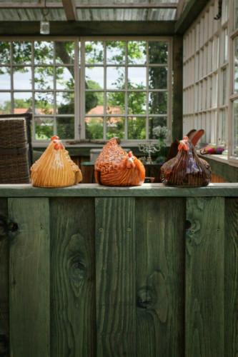 Daze Rooster- Handmade Garden Decoration Sercurity Chicken On The Fence