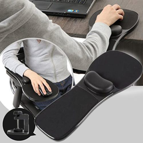 Universal Clamp-on Adjustable Arm Rest Mouse Pad