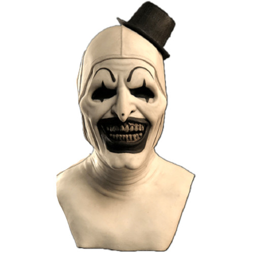 Horror Clown Mask with Hat Adult Creepy Clown Mask Demon Cosplay for Halloween Costume Joker Props Party Art clown mask