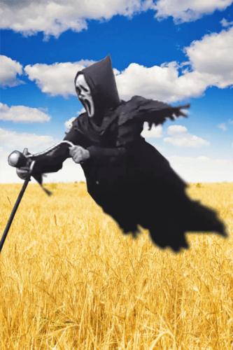 Ghostface Scream Scarecrow: Halloween Scary & Creepy Ghost Decoration