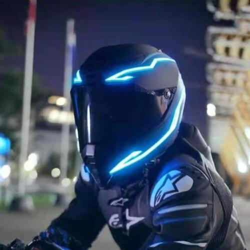 LED Motorcycle Helmet Strip Motorcycles Helmet LED Light Safety Stripes