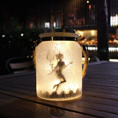 Frosted Glass Solar Fairy Lantern