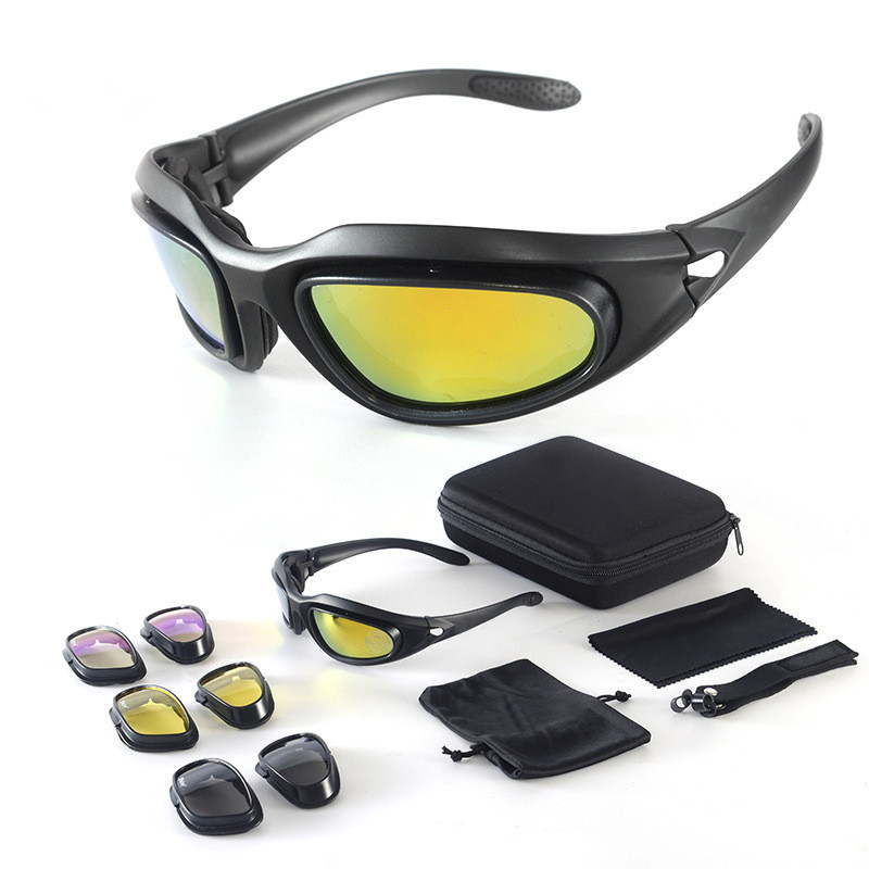 Unique UV400 Polarized Sunglasses ANTI-DUST Sunglasses Kit with 4 Different Lens