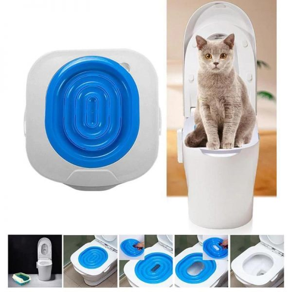 4 Steps Easy to Learn Cat Toilet Seats Training Kit