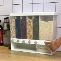 Wall-Mounted Dry Food Dispenser Wall Mounted Press Cereals Dispenser