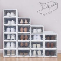 2020 New Shoe Box Organizer Drawer Type Shoe Box-stacking Storage Box Shoes Container