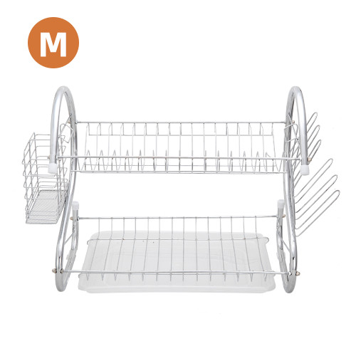 Multifunctional S-shaped Dual Layers Bowls & Dishes & Chopsticks & Spoons Collection Shelf Dish Drainer