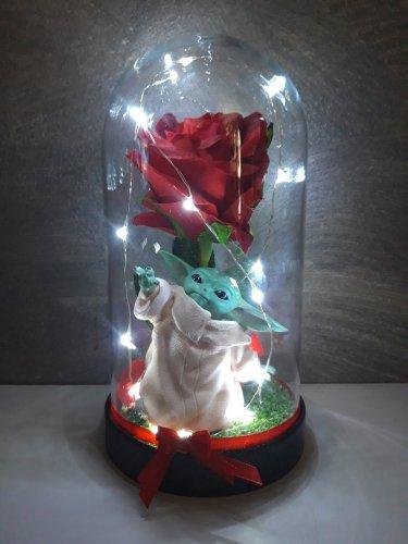 Galaxy Enchanted Rose LED Glass Display